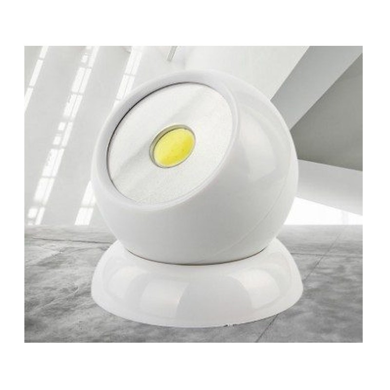 Περιστρεφόμενος Προβολέας Μπαταρίας με LED
