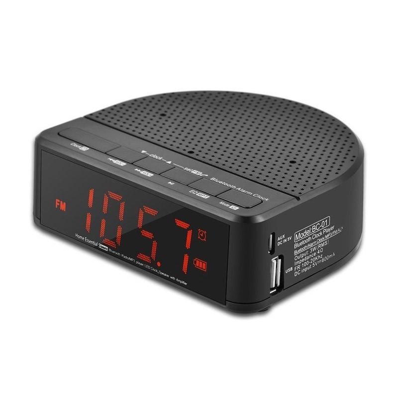 Ρολόι - Ραδιόφωνο με Ηχείο BC01
