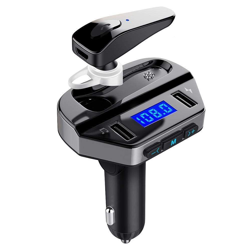 24.9 - Πομπός Bluetooth USB MP3 Player, FM Transmitter, και Φορτιστής Αυτοκινήτου με Ακουστικό Hands-free