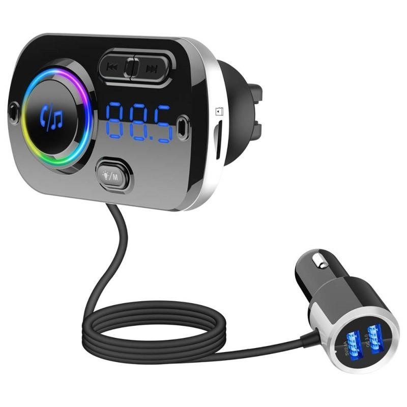 26.9 - Φορτιστής Αυτοκινήτου USB, με MicroSD MP3 Player, FM Transmitter, και Λειτουργία Hands-Free