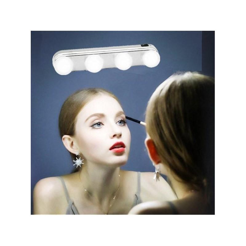 12.9 - Φορητό Φωτιστικό Μπάρα με 4 LED για Καθρέπτη Μακιγιάζ με Βεντούζες