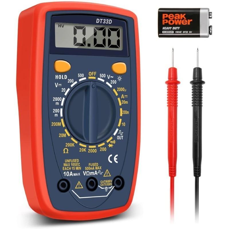 14.9 - Ψηφιακό Πολύμετρο με Φωτιζόμενη Οθόνη LCD - DT33