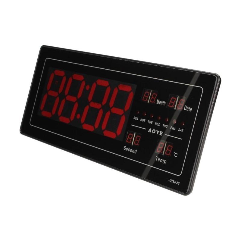 26.9 - Ψηφιακό Ρολόι LED με Ένδειξη Ημερομηνίας και Θερμοκρασίας JH-8036