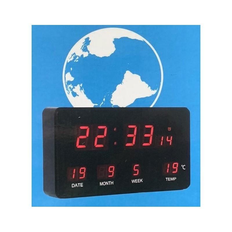 19.9 - Επιτραπέζιο Ψηφιακό Ρολόι LED με Ένδειξη Ημερομηνίας και Θερμοκρασίας JH-2158