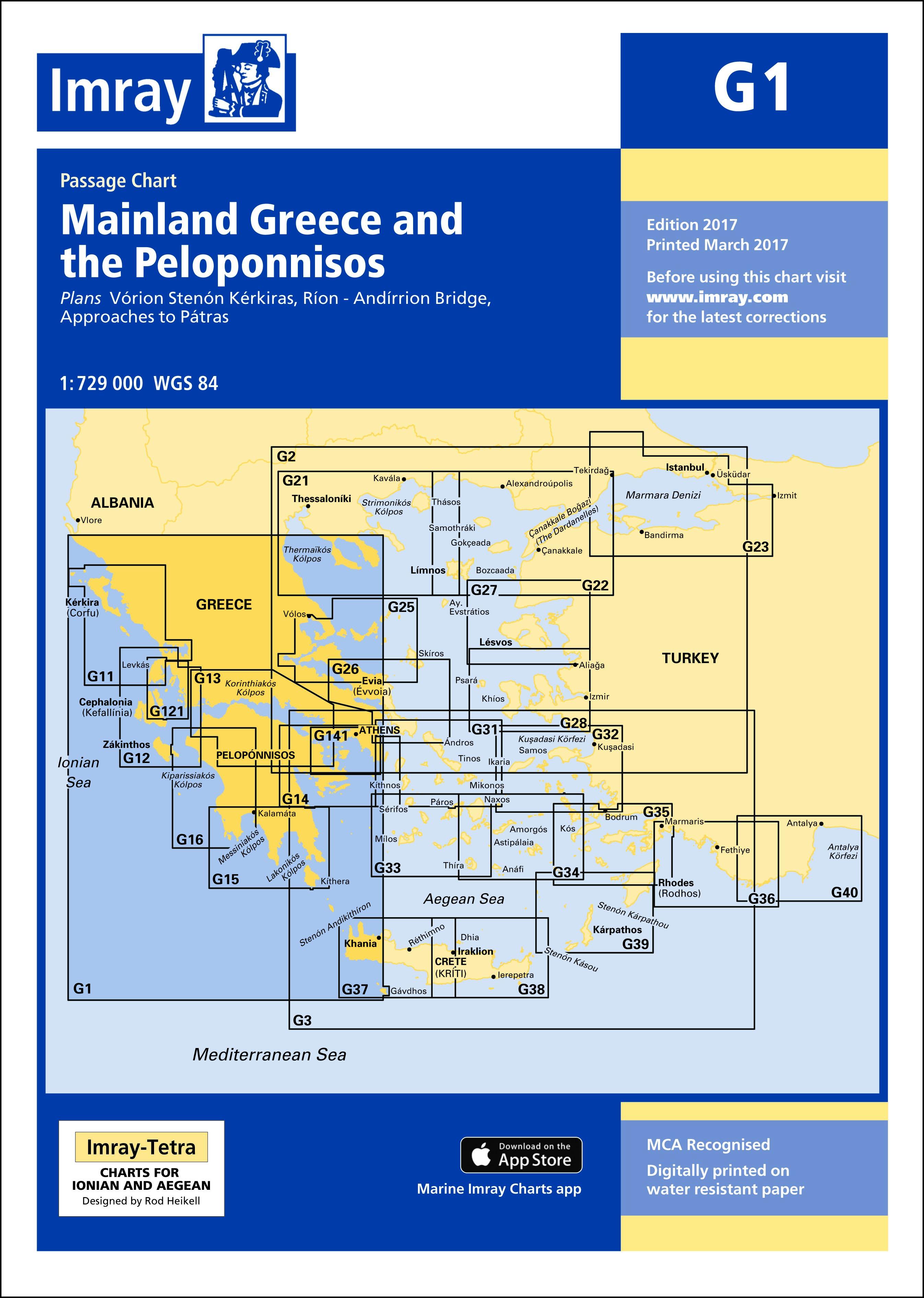 33.53 - Ναυτικός Χάρτης IMRAY M26 Κροατία (Split έως Dubrovnik)