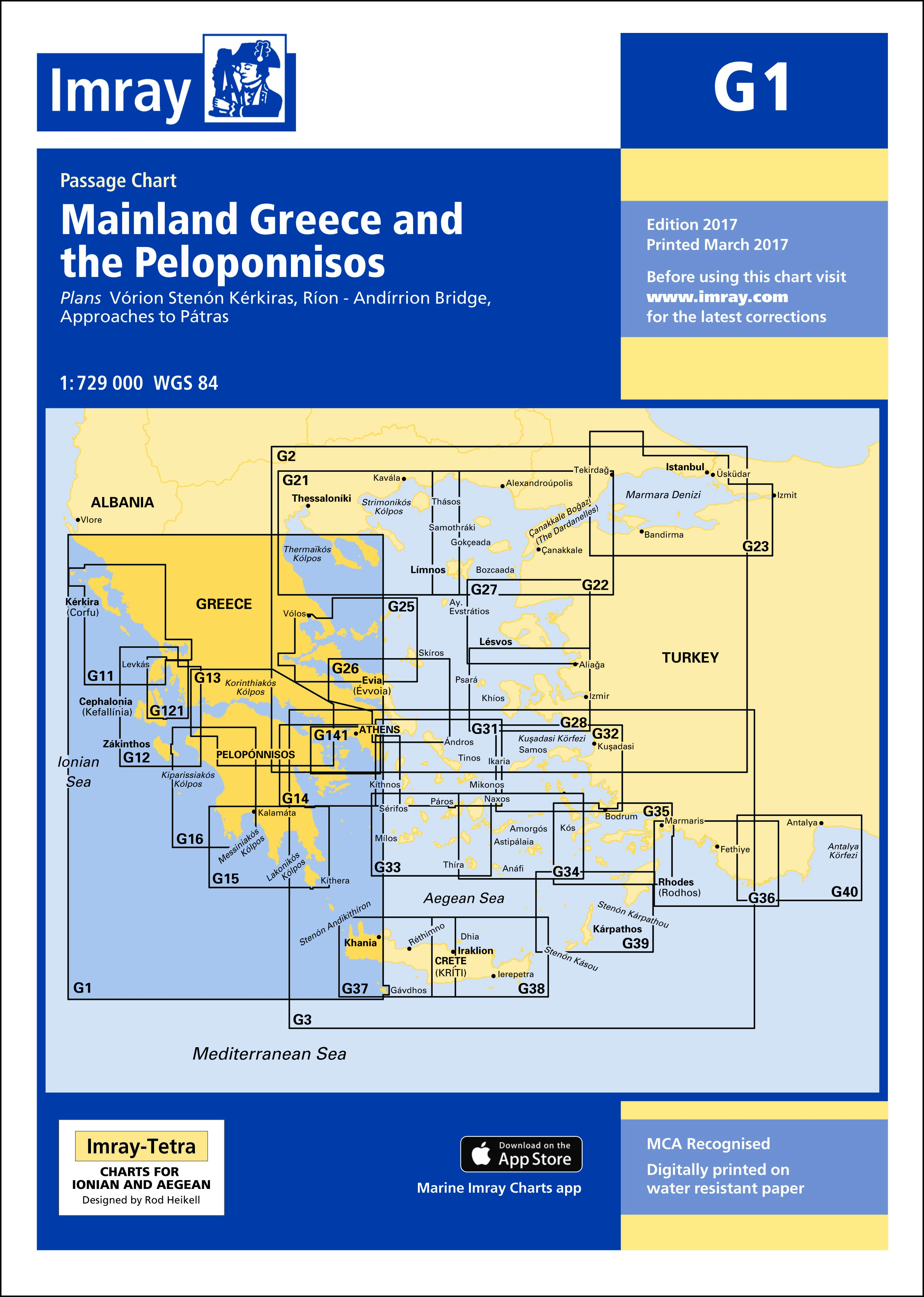 33.53 - Ναυτικός Χάρτης IMRAY M27 Κροατία (Dubrovnik έως Bar και Ulcinj)