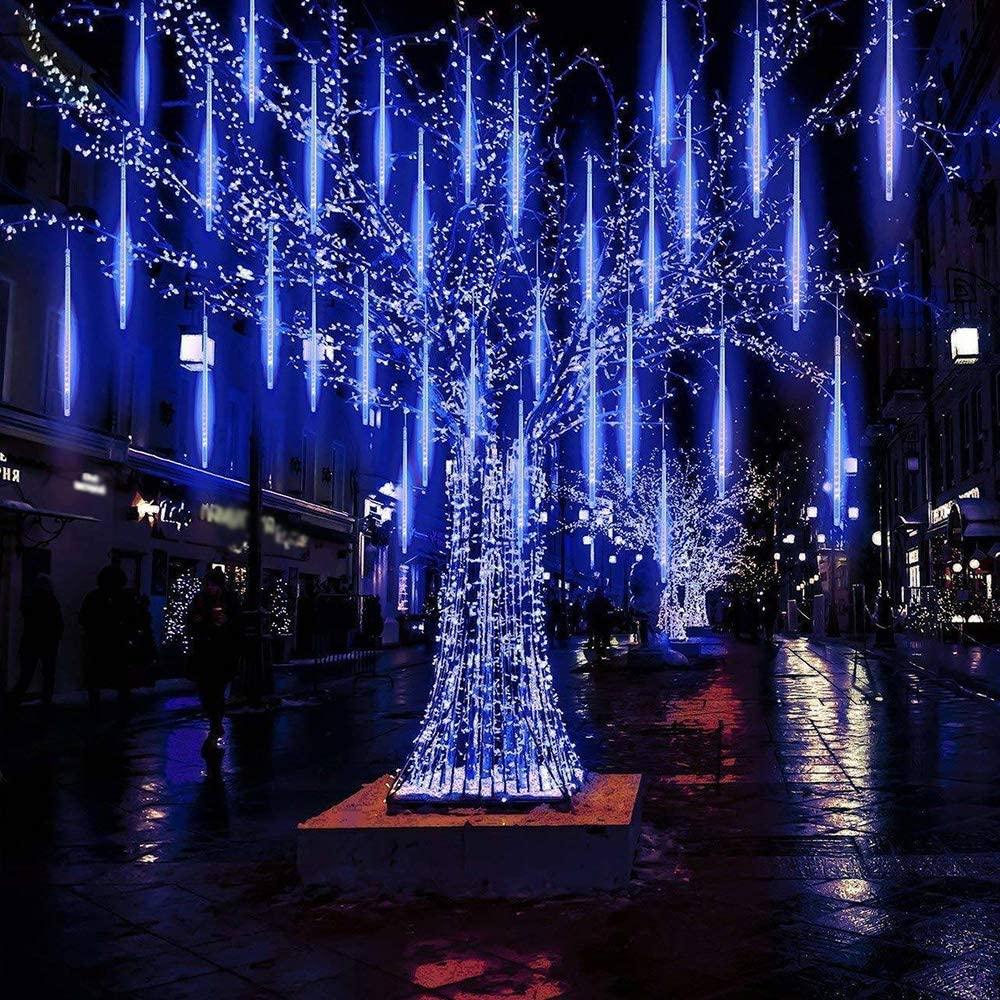 21.9 - Διακοσμητικός Φωτισμός LED Βροχή - Μπλε