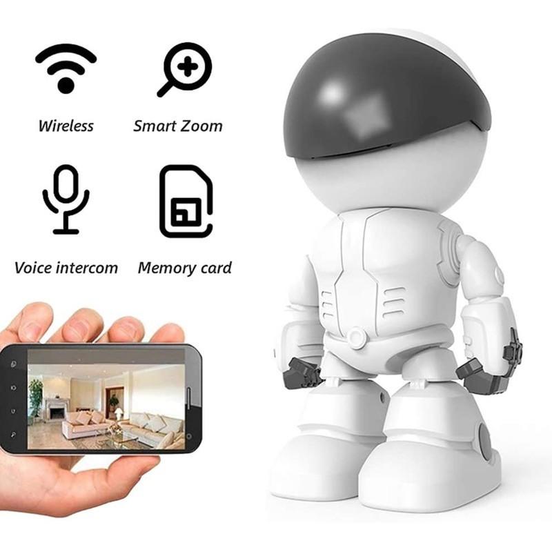 54.9 - Ρομπότ Κάμερα Παρακολούθησης Χώρου WiFi με Χειρισμό Γωνίας Λήψης