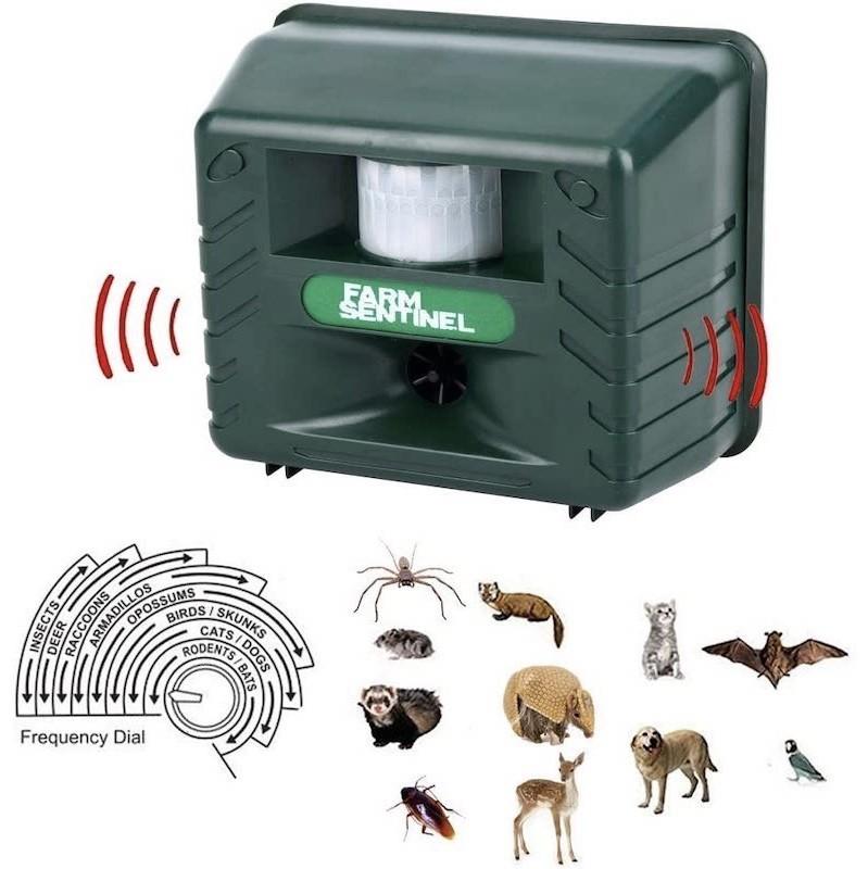 39.9 - Απωθητικό Υπερήχων Για Ζώα, Πτηνά & Τρωκτικά Με Αισθητήρα Κίνησης