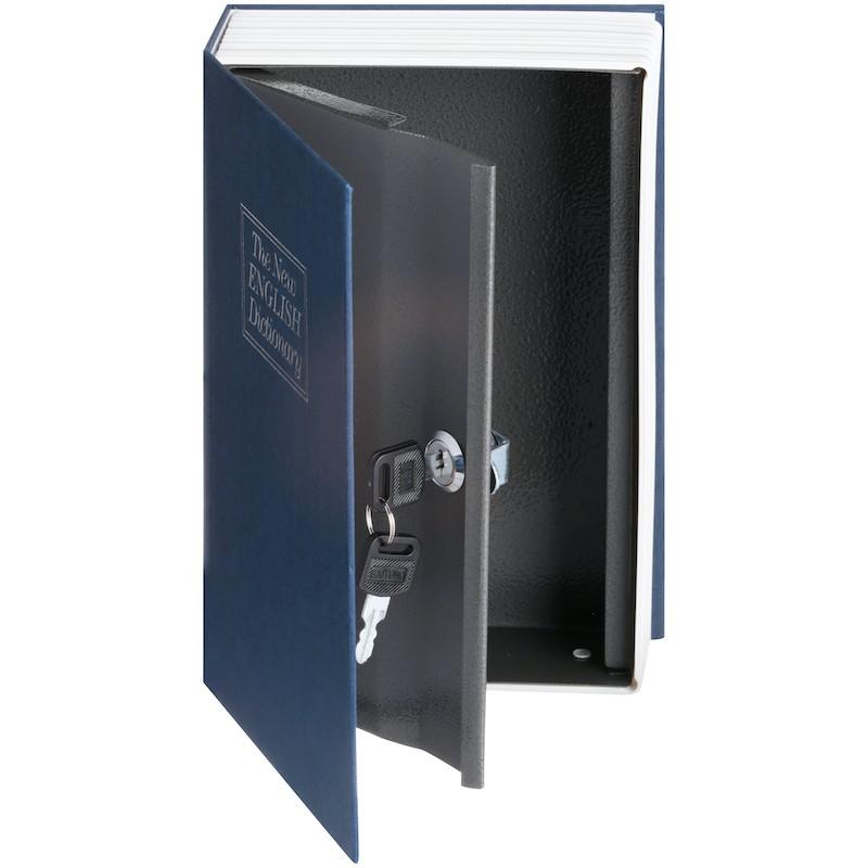 19.9 - Βιβλίο Χρηματοκιβώτιο Ασφαλείας με Κλειδί Χρώμα Μπλε - Book Safe Dictionary 265 x 200 x 65mm