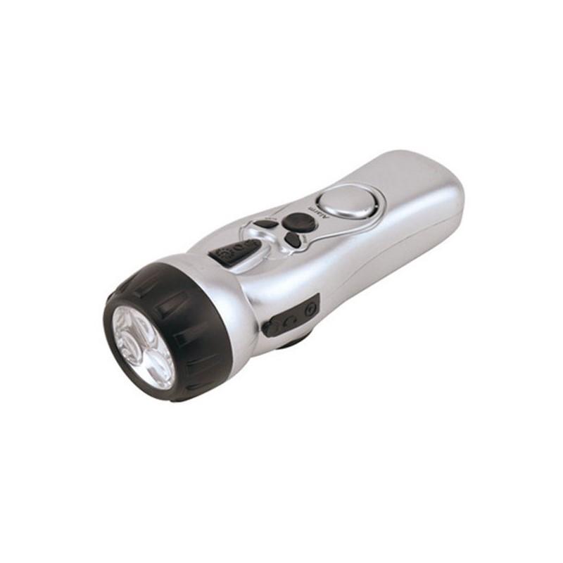 12.9 - Φακός LED με Ραδιόφωνο, Σειρήνα και Φορτιστή Κινητών
