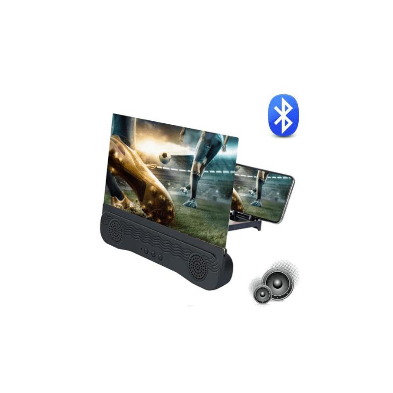 """34.9 - Μεγεθυντικός Φακός 3D 12"""" με Ηχεία Bluetooth για Κινητά"""