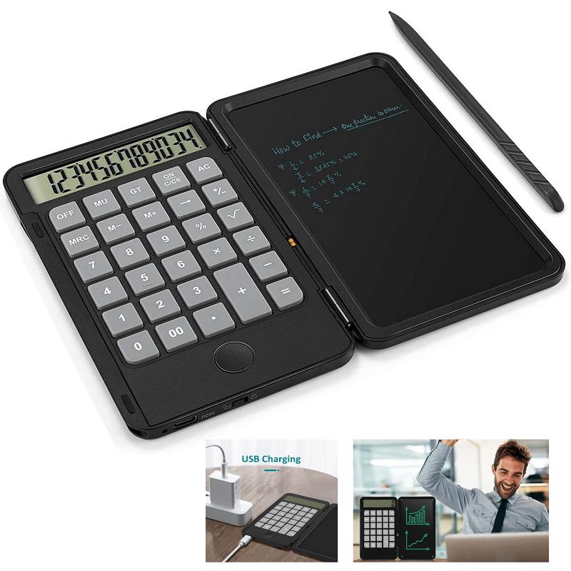 29.9 - Σημειωματάριο LCD 6,5' με Αριθμομηχανή 2 σε 1