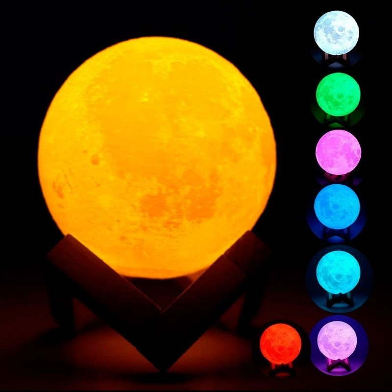 34.9 - 3D Φωτιστικό Φεγγάρι με Ηχείο Bluetooth USB
