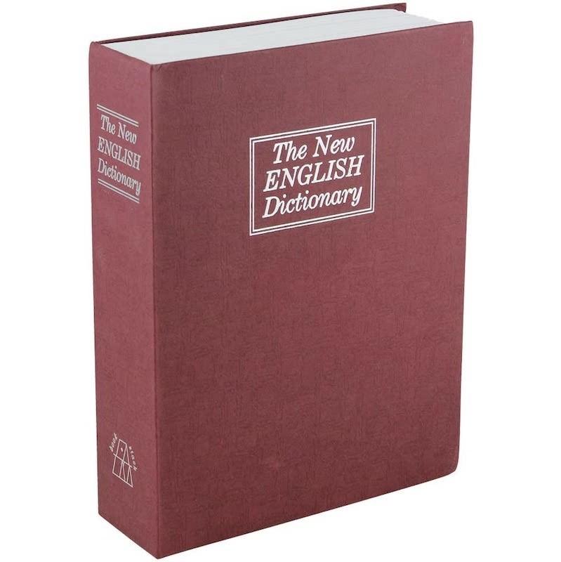 19.9 - Βιβλίο Χρηματοκιβώτιο Ασφαλείας με Κλειδί Χρώμα Κόκκινο - Book Safe Dictionary 265 x 200 x 65mm