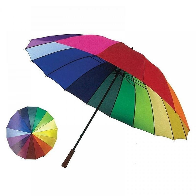 11.9 - Ομπρέλα Βροχής Ουράνιο Τόξο 16 Ακτίνων