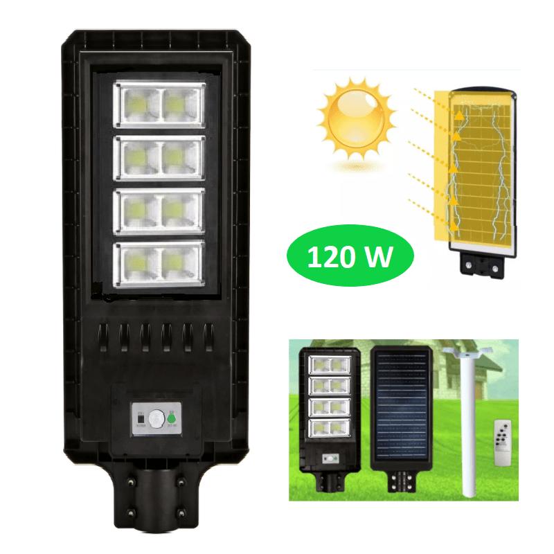 79.9 - Αυτόνομο Ηλιακό Σύστημα Εξωτερικού Φωτισμού LED 120W με Τηλεχειριστήριο GD-78120
