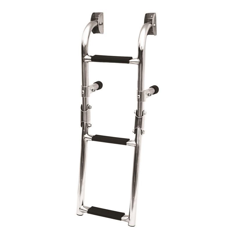 70.39 - Σκάλα Inox Αναδιπλούμενη Καθρέπτου 3 Σκαλιών