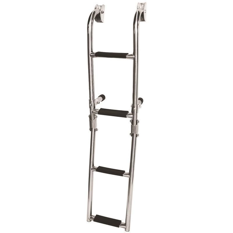 79.34 - Σκάλα Inox Αναδιπλούμενη Καθρέπτου 4 Σκαλιών