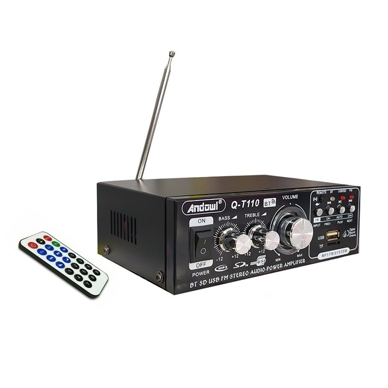 49.9 - Ενισχυτής Ήχου Bluetooth, Δύο Καναλιών, USB, SD Radio Speaker με Τηλεχειριστήριο