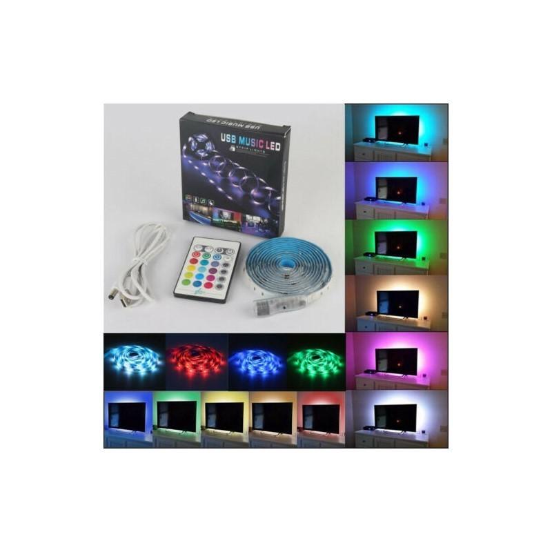 24.9 - Διακοσμητικός Φωτισμός RGB με Αισθητήρα Ήχου και Τηλεχειριστήριο