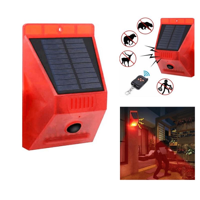 29.9 - Ηλιακός Συναγερμός 129 dB με Τηλεχειριστήριο, και Φωτισμό Ειδοποίησης