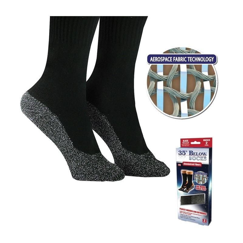 9.9 - Αυτoθερμαινόμενες Κάλτσες με Ειδική Ύφανση από Νήμα Αλουμινίου - 35 Below