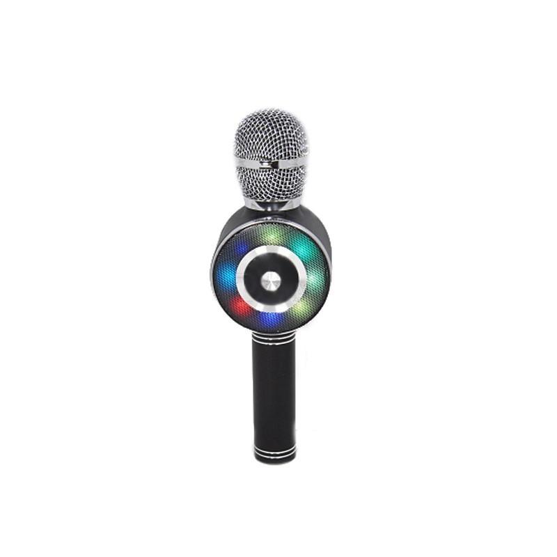 24.9 - Ασύρματο Bluetooth Μικρόφωνο με Ενσωματωμένο Ηχείο, Καραόκε & Disco Light Led