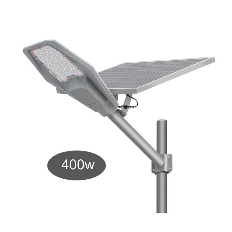 179.9 - Ηλιακός Προβολέας LED 400W με Φωτοβολταϊκό Πάνελ και Βραχίωνα Στήριξης