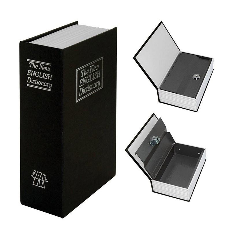 18.5 - Βιβλίο Χρηματοκιβώτιο Ασφαλείας με Κλειδί Χρώμα Μαύρο - Book Safe Dictionary 240 x 155 x 55mm