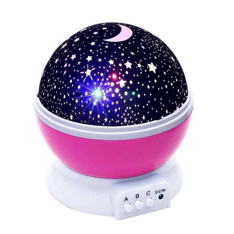 14.9 - Διακοσμητικός Προβολέας Δωματίου Χρώματος Ρόζ – Star Master Plus Pink