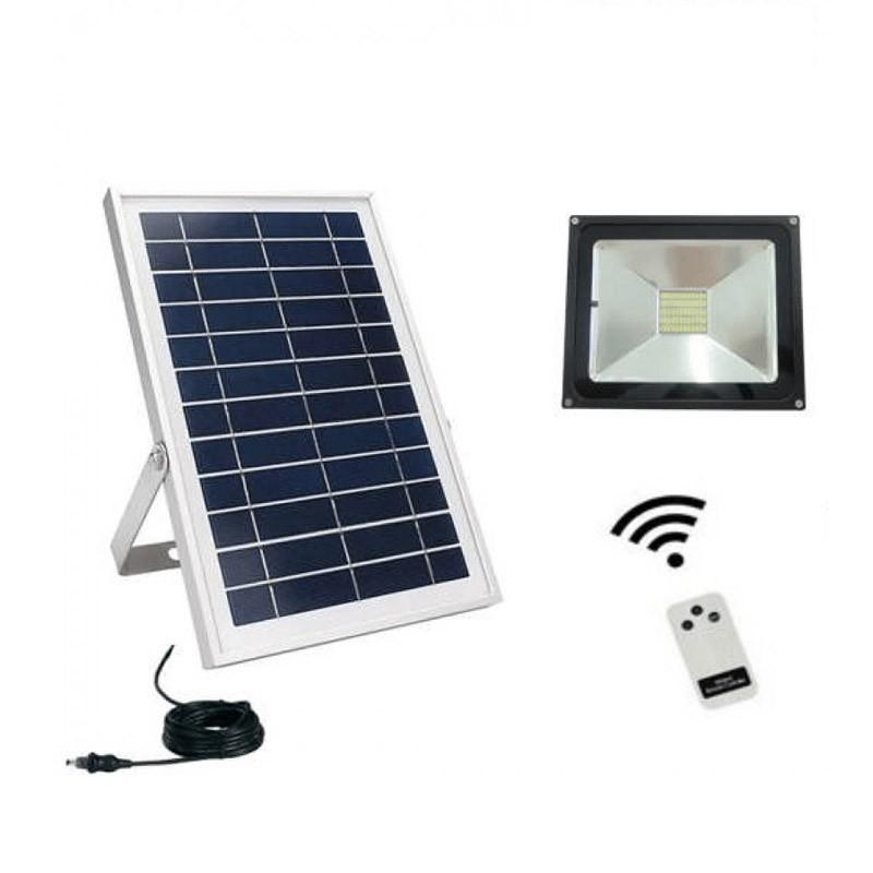 53.9 - Ηλιακός Προβολέας LED 30W με Τηλεχειριστήριο και Αισθητήρα Φωτός