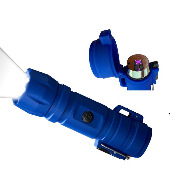 17.9 - Επαναφορτιζόμενος Αντιανεμικός Αδιάβροχος Αναπτήρας X Arc και Φακός LED