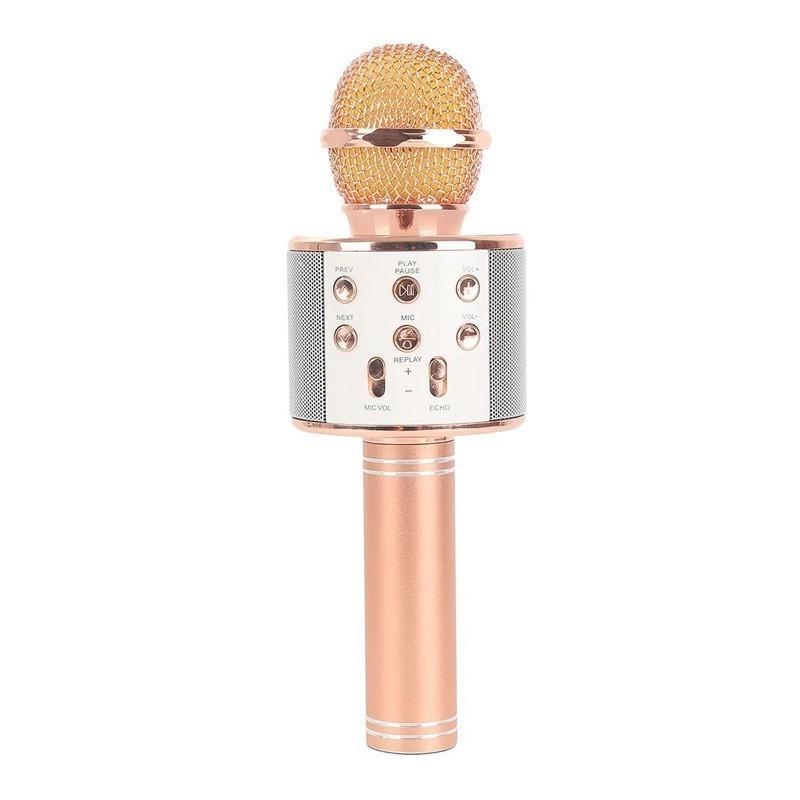 24.9 - Ασύρματο Bluetooth Μικρόφωνο με Ενσωματωμένο Ηχείο και Karaoke WS-858
