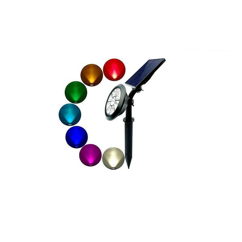 29.9 - Ηλιακό Προβολάκι 5W led  RGB με Τηλεχειριστήριο
