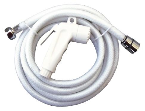 12.74 - Μηχανισμός Ντουζ Με Σωλήνα 2.5m Χρώμα Λευκό