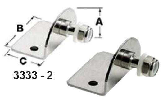 10.54 - Πλάκα Στερέωσης Αμορτισέρ Αερίου 25x35x25mm