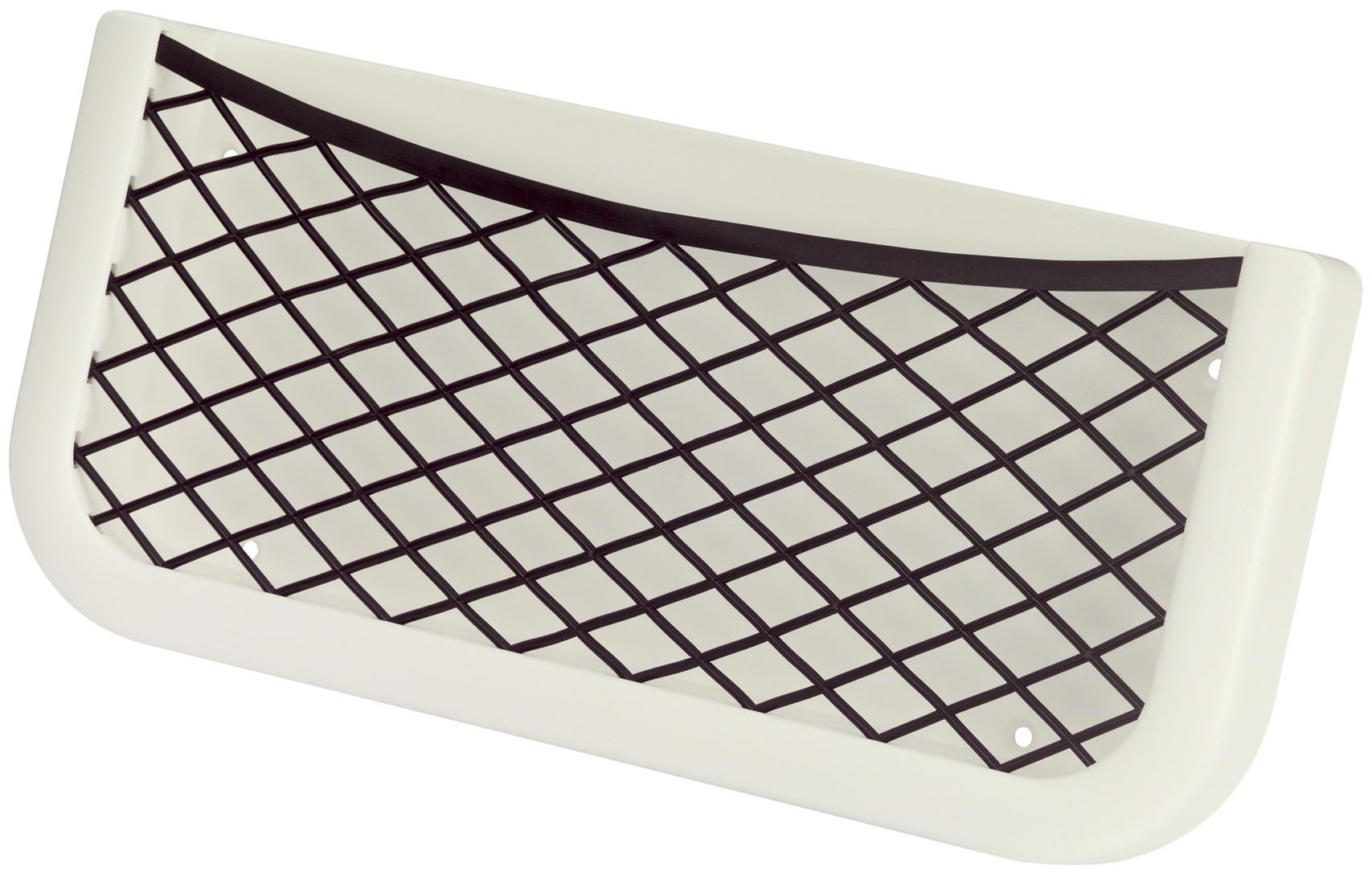 18.14 - Θήκη Αποθήκευσης Με Διχτάκι Λευκή L260 x W112 x D32 mm