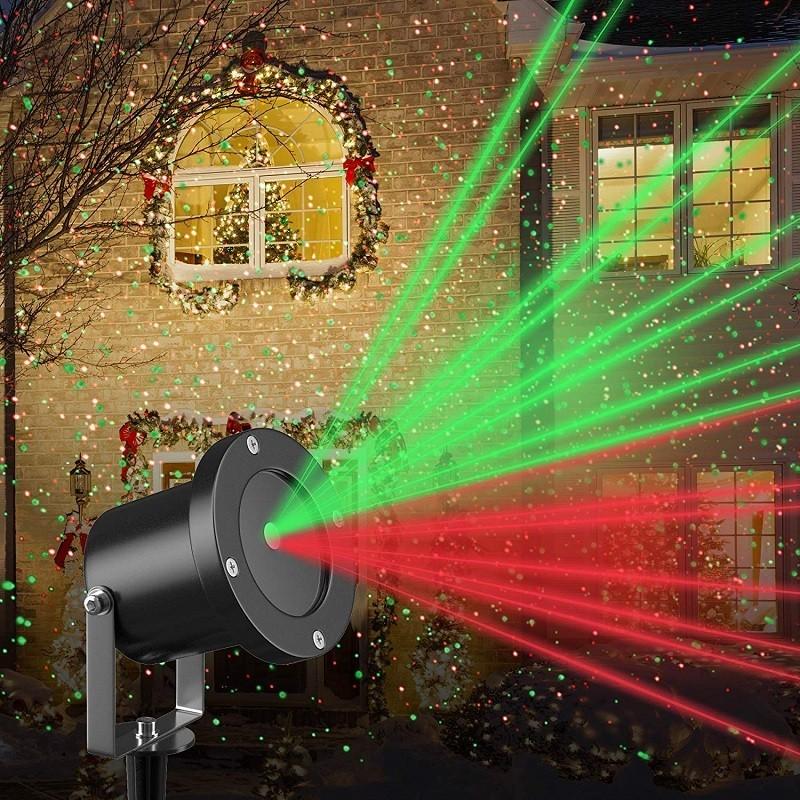 Χριστουγεννιάτικος Φωτισμός - Αδιάβροχος Προβολέας Laser Star Moving Laser DPSS 100mW