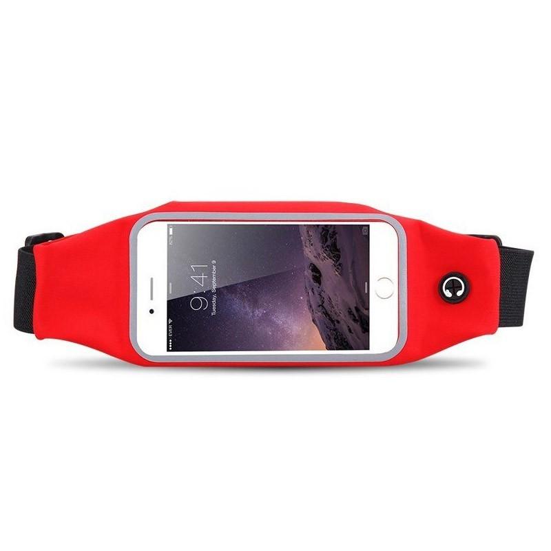 Αδιάβροχη Θήκη - Τσαντάκι Μέσης για Smartphones Χρώματος Κόκκινο