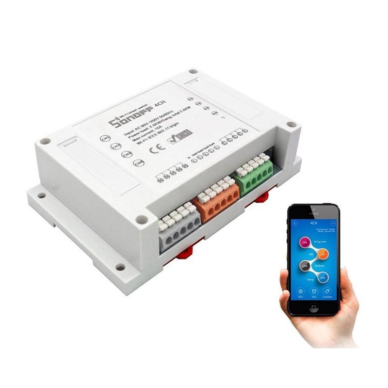 Ασύρματος Τετρακάναλος Διακλαδωτής Φωτισμού και Ηλεκτρικών Συσκευών WiFi