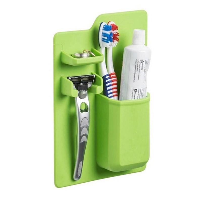 9.9 - Organizer Μπάνιου Χρώματος Πράσινο Mighty Toothbrush Holder