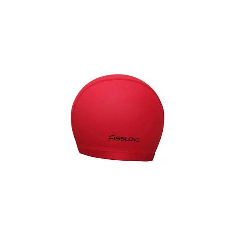 Σκουφάκι Κολύμβησης - Swim Cap FissLove Χρώματος Κόκκινο