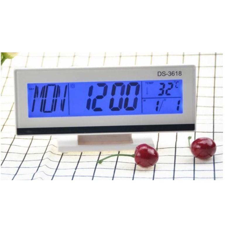 Επιτραπέζιο Ψηφιακό Ξυπνητήρι με Οθόνη LCD