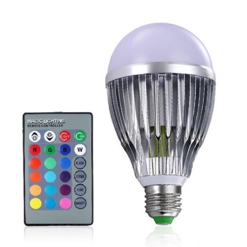 Λάμπα LED 10 Watt με Εναλλαγή Χρωμάτων και Τηλεχειριστήριο