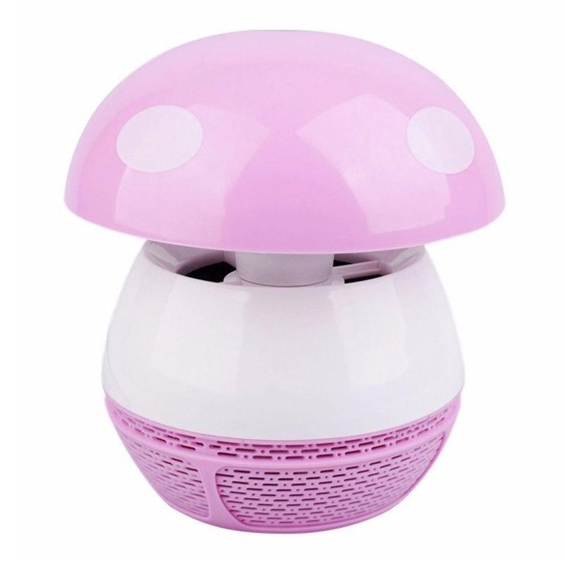 Μίνι Φωτιστικό Εντομοπαγίδα USB με Σύστημα Αναρρόφησης Χρώματος Ροζ