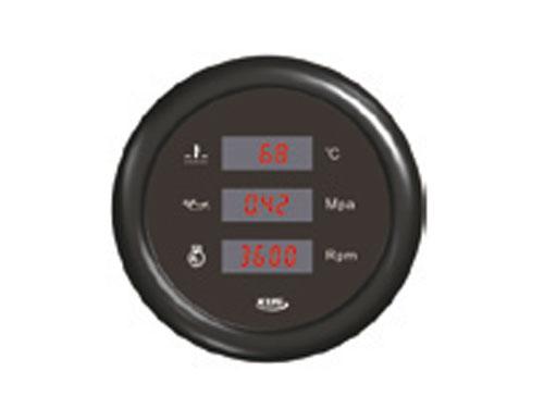78.62 - Πολυόργανο Δείκτης Θερμοκρασίας Νερού/Πίεσης Λαδιού/Στροφόμετρο Χρώμα Inox Μαύρο