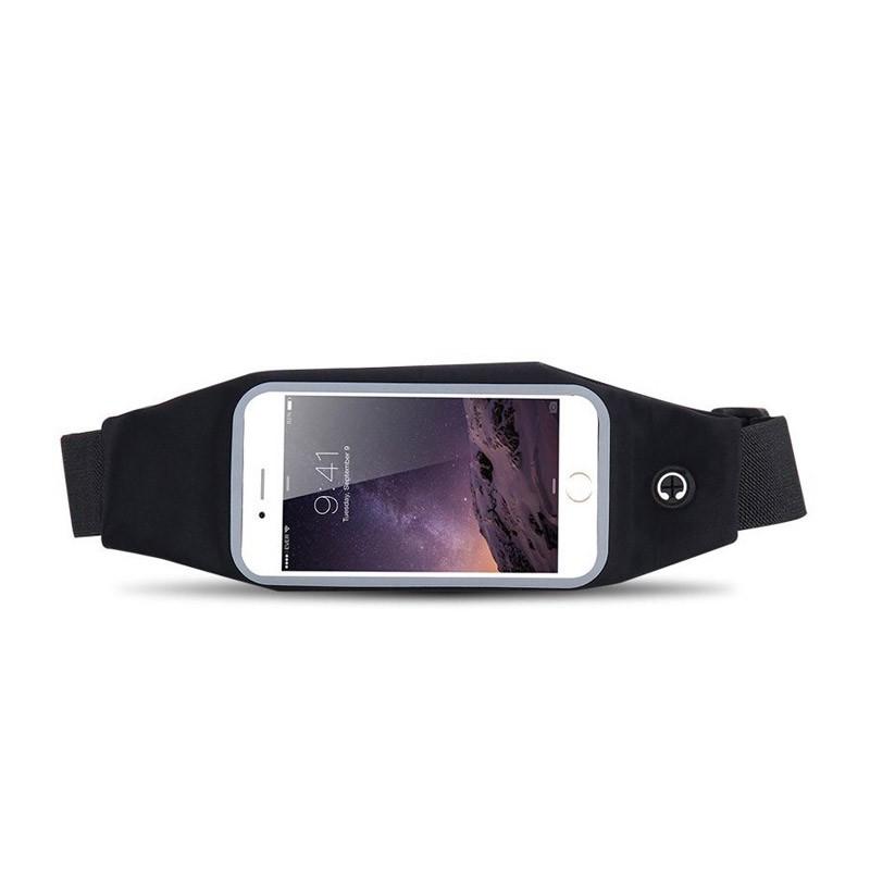 Αδιάβροχη Θήκη Τσαντάκι Μέσης για Smartphone Χρώματος Μαύρο