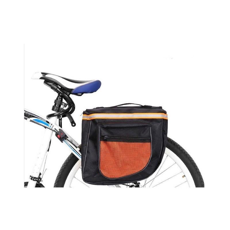 Αδιάβροχη Διπλή Τσάντα Σχάρας Ποδηλάτου με 4 Θέσεις
