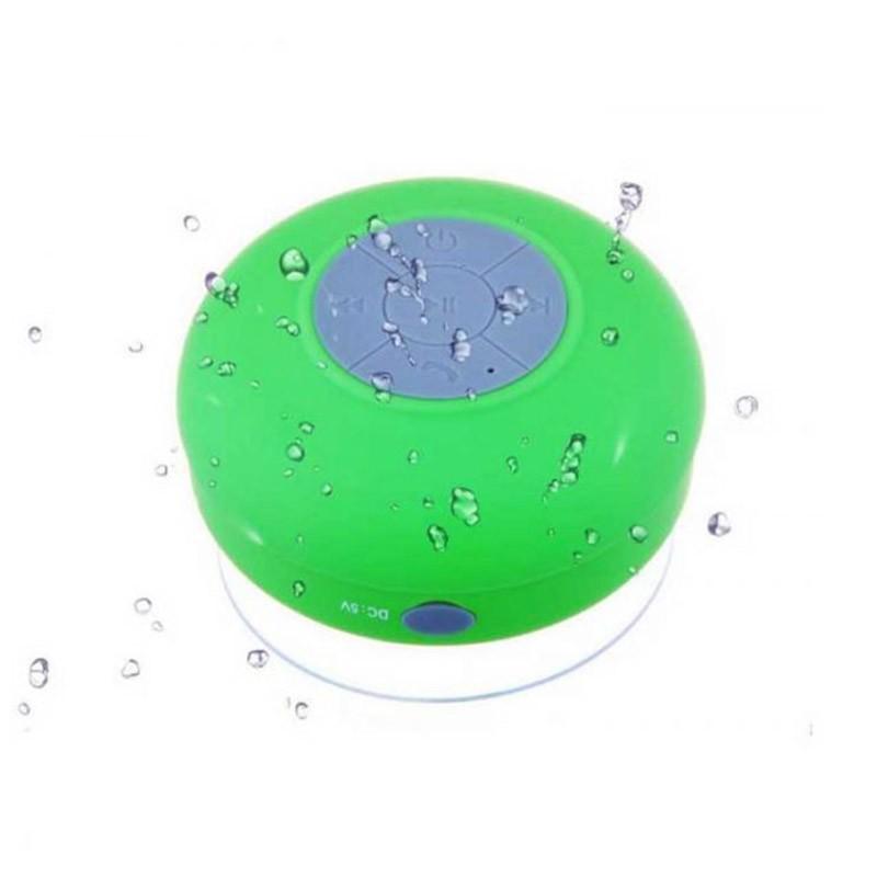 Αδιάβροχο Bluetooth Ηχείο με βεντούζα Χρώματος Πράσινο